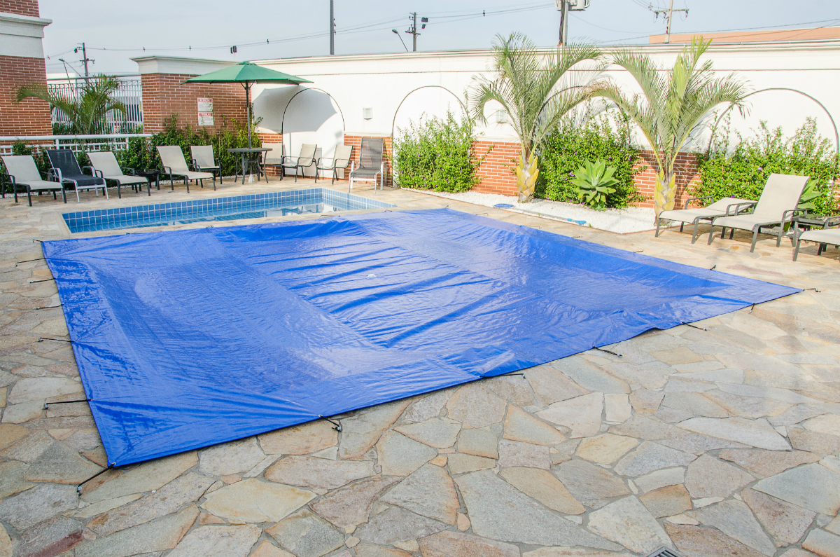 Capa para piscina 9x4 5 m da kone forte e leve lonas kone for Piscina 9x4